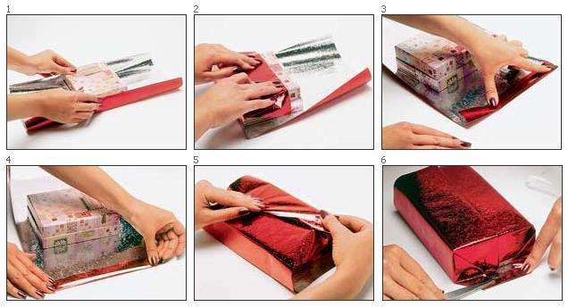 Как упаковать в подарочную упаковку подарок 973