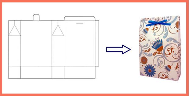 Подарочная упаковка своими руками из бумаги схема