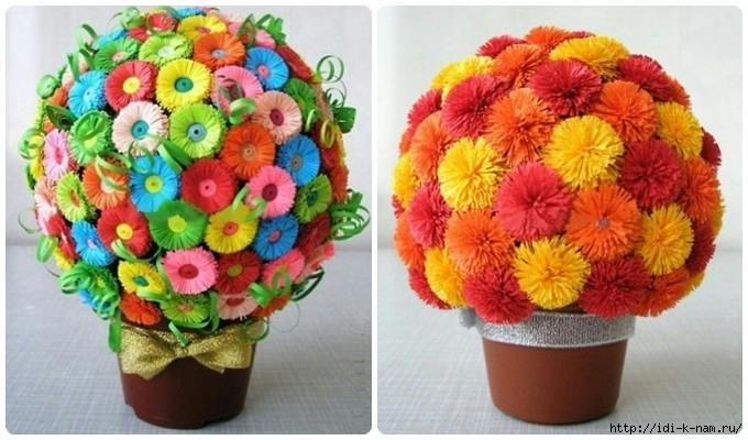 Как сделать горшок с цветами из бумаги своими руками
