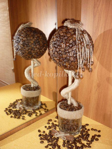 Кофейное топиарий пошагово