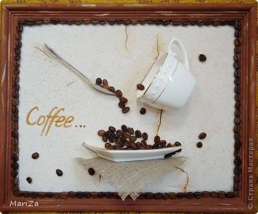 Работы из кофейных зерен