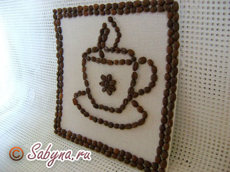 Мастер класс картины из кофейных зерен своими руками