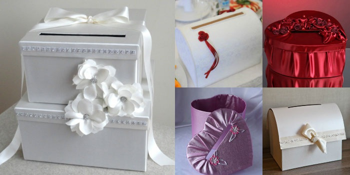 Коробки для сбора денег на свадьбу своими