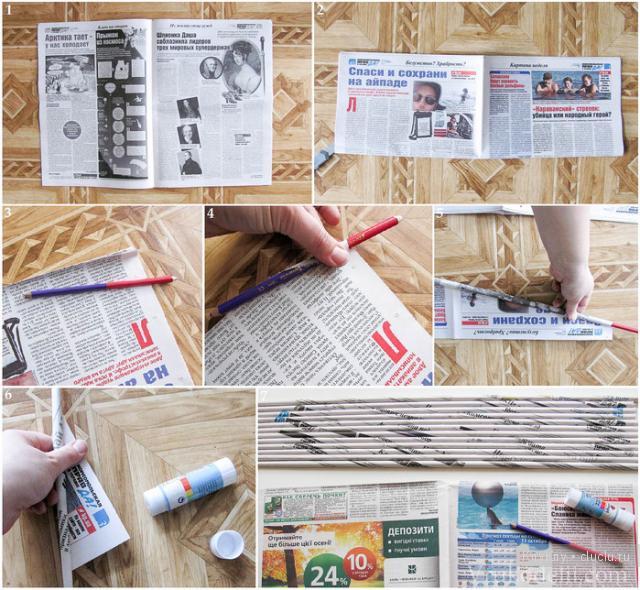 Что можно сделать своими руками из газеты фото