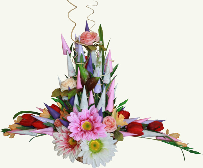 Цветы из конфет своими руками мастер класс фото