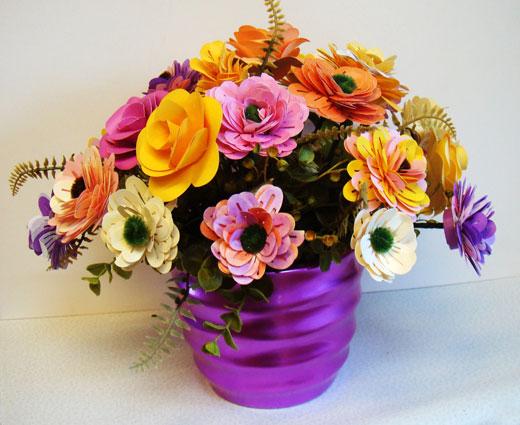 Искусственные горшки с цветами своими руками