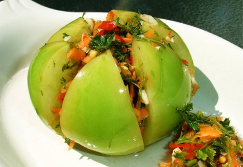 Рецепты зеленых помидор фаршированные