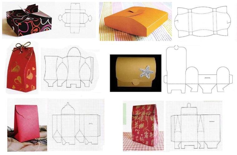 Как сделать маленький пакетик из картона