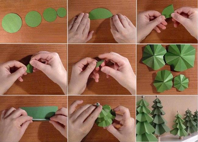 Как сделать елку из бумаги видео очень красивую