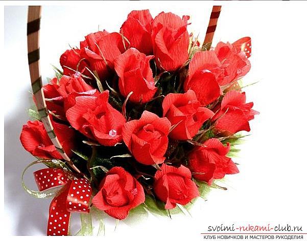 Букеты розы из конфет своими руками пошаговое фото