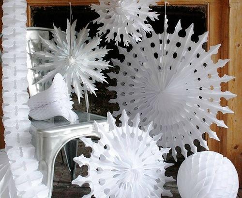 Новогодние украшения своими руками снежинки