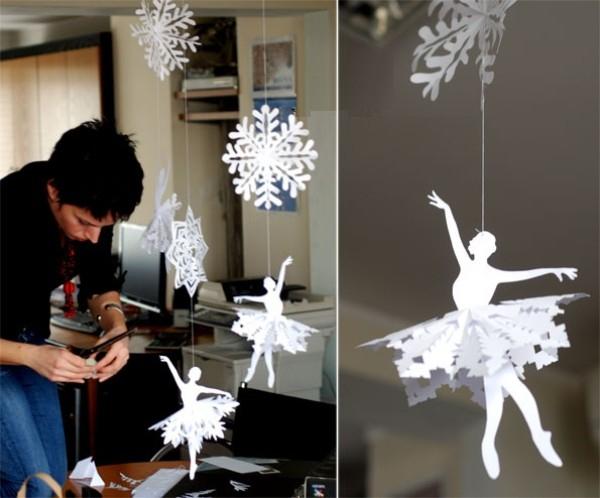 Новогоднее украшение для офиса своими руками