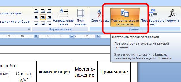 Как в ворде сделать перенос шапки таблицы - Mobile-health.ru