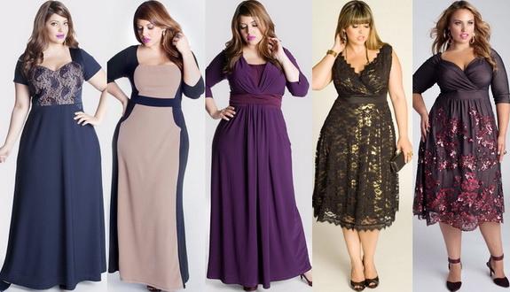 Платье модное на полных