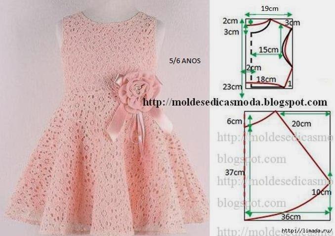 Выкройка детского платья на 5 лет