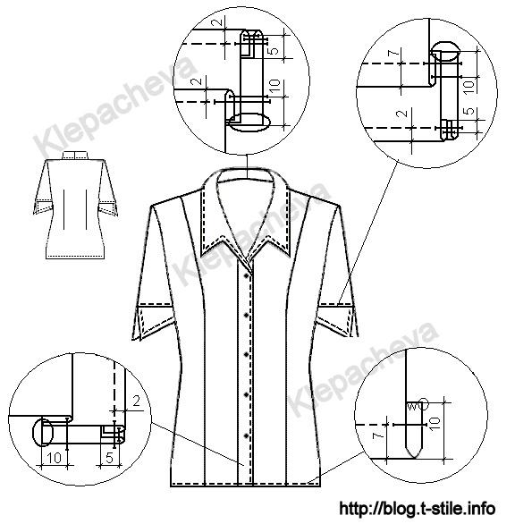 Техническое Описание Модели Блузки Женской С Жабо